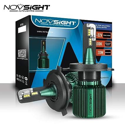 NOVSIGHT Bombilla LED para faros delanteros, 40 W, 10000 lm, 6500 ...
