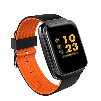 XHL Art Multifunción Reloj Inteligente Z40 Plus Fitness Pulsera Monitor De Ritmo Cardíaco Fitness Pulsera Para Android Smartwatch Phone,Orange: Amazon.es: ...