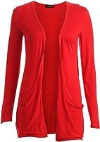 Fast Fashion - Gilet Long Manches Longues style Boyfriend - Femme - 40/42 - Rouge
