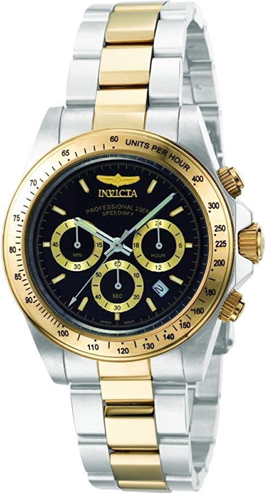 Invicta Men s 9224 Speedway Collection S Series Two-Tone Stainless Steel Watch with Link Bracelet