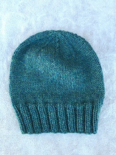 9bfb4e62ecb Image Unavailable. Image not available for. Color  hand KNIT PURE WOOL  Stocking Beanie Hat ...