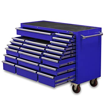 22 drawer blue tool box maxim pro series large roll cabinet huge ...