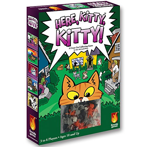 (Fireside Games Here Kitty Kitty Board Game - Board Games for Families - Board Games for Kids 7 and up)