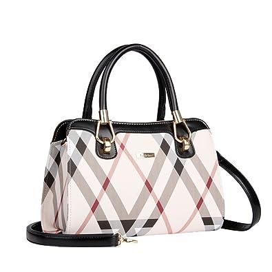 f62f2f7e7915 Amazon.com  Fashion Leather Handbags Women Tote Shoulder Bag Ladies  Messenger crossbody Bag (black)  Shoes