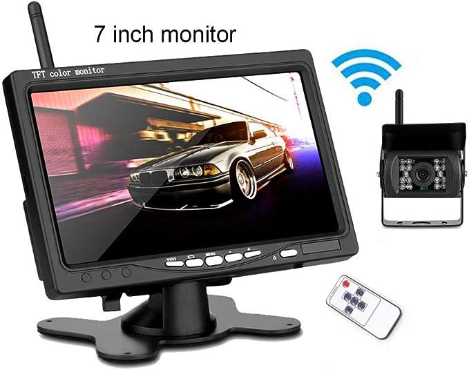 RETROVISOR DE MONITOR TFT LCD 4,3 C/ÁMARA DE MARCHA ATR/ÁS PARA COCHE PARA FOCOS
