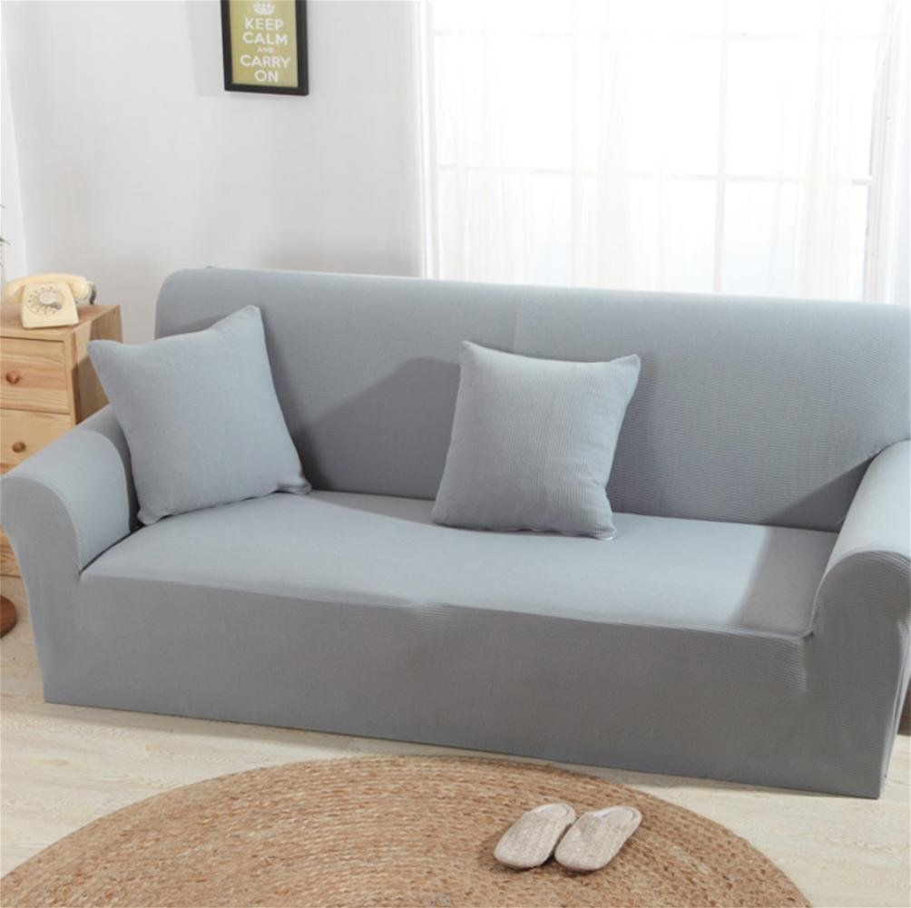 XH@G Knitting Sofa Cover Sofa Slipcover Gray Single/Two/Three/Four-Seater  Stretch Scenic Funda Sofa Couch Cover Capa De Sofa Decoration , 235*300Sofa  Cover: