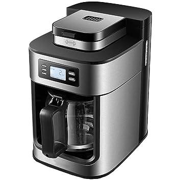 Máquina automática para hacer café en grano con café expreso, 1000 vatios, 1,2 litros de plata: Amazon.es: Hogar