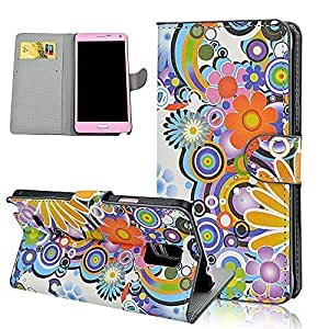 Aprotify Colorful Flower Painting Wallet For Case Ipod Touch 5 Cover Flip Leather Pouch Cover Back Protector