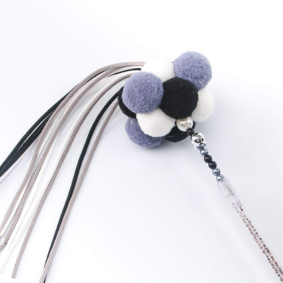 H Pet Supplies Interactive Toy Funny cat Stick Cat Toy Funny cat Toy Long Pole Hairball Tassel Macaron