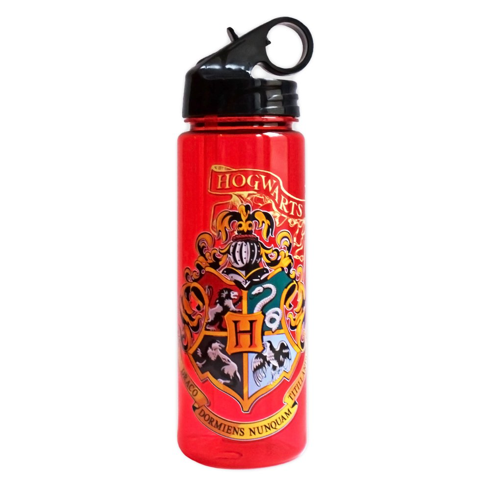 Silver Buffalo HP0164 Warner Brothers Harry Potter Movie 1-8 Shield with Flag Tritan Water Bottle, 20-Ounces