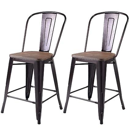 Phenomenal Amazon Com Cirocco Set Of 2 Vintage Metal Stool With Inzonedesignstudio Interior Chair Design Inzonedesignstudiocom