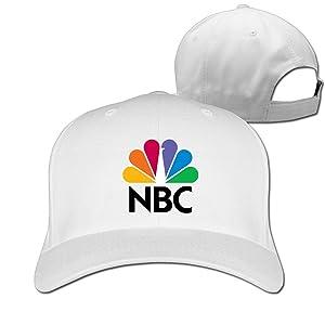 Adult Nbc Sports Cotton Adjustable Peaked Baseball Cap White
