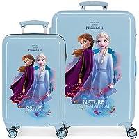 Disney Frozen Nature is magical Juego de maletas Azul 55/65 cms Rígida ABS Cierre combinación 93L 4 ruedas dobles…