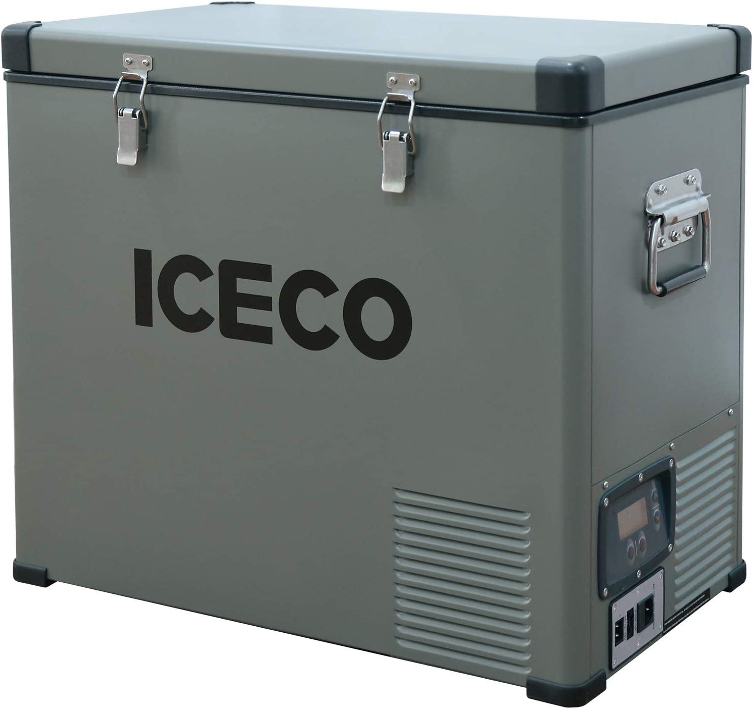 ICECO VL60 63 Quart Single Zone Portable Refrigerator with SECOP Compressor, 60 Liters Platinum Compact Refrigerator, DC 12/24V, AC 110-240V, 0℉ to 50℉, Home & Car Use (without Insulate Cover)