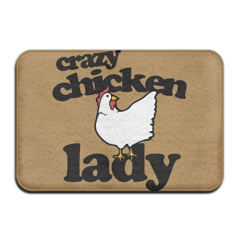 YiNuo Highest Quality Materials Memory Foam Bath Mat Crazy Chicken Lady Super Cozy Bathroom Rug by bevoicep