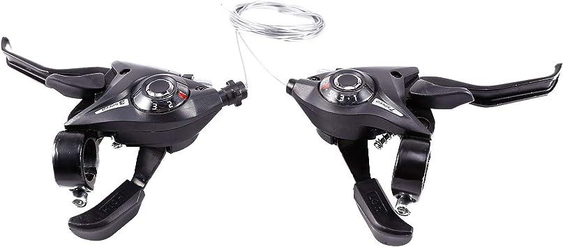 Hamimelon Juego de palanca de cambios para bicicleta de montaña de 3 x 7 21/3 x 8 24 velocidades MTB de bicicleta de montaña/cambio de freno de ...