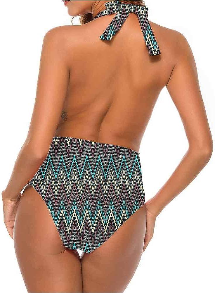 Bandage bikini pour femme - Couleurs bleues - Pour nager, nager, danser et danser Multi 29