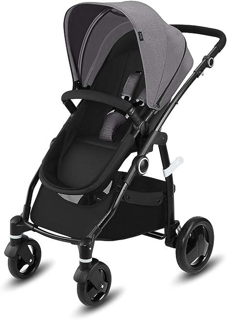 Opinión sobre Cbx Leotie Pure - Cochecito con asiento reversible y capazo para recién nacidos, incluye cubierta para lluvia, desde el nacimiento hasta los 15 kg, Comfy Grey
