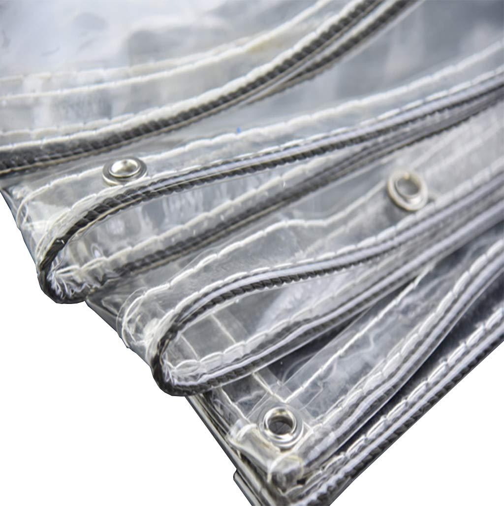 1.7mX4m Transparente Feuille PVC étanche BÂche extérieur Jardin épais 0.3mm Tente BÂches emise pour bÂtiHommest Camping poussière Peinture Dirt Feuille de Pluie avec Oeillets
