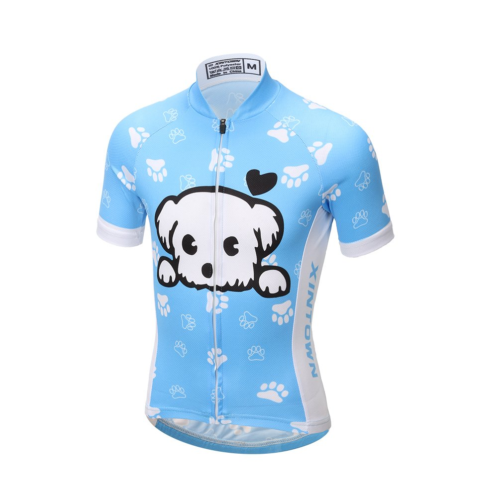 LSERVER Children Boys' Girls' Cycling Jersey Set Short Sleeve with 3D Padded Shorts by LSERVER