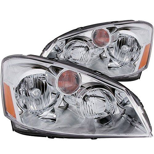 AnzoUSA 121294 Crystal Clear/Amber Headlight for Nissan Altima - (Sold in Pairs)