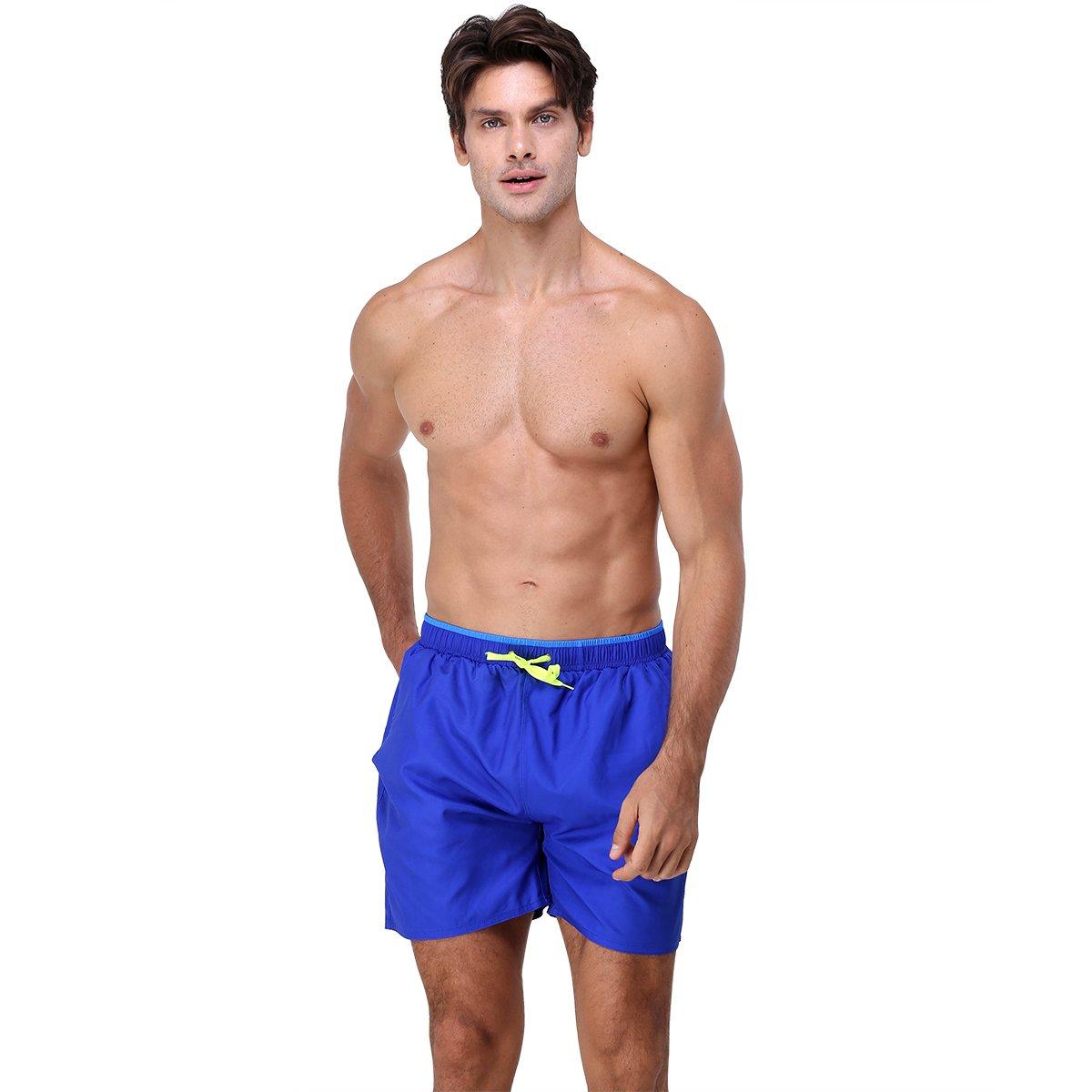 youvimi Men\'s Quick Dry Swim Trunks With Pockets