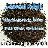 Super Seaweed 4 Blend Delight - Organic Bladderwrack, Dulse, Wakame & Irish Moss (8 oz (1/2 lb))