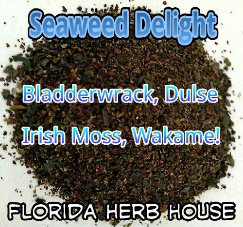 Bladderwrack Seaweed - Super Seaweed 4 Blend Delight - Organic Bladderwrack, Dulse, Wakame & Irish Moss (8 oz (1/2 lb))