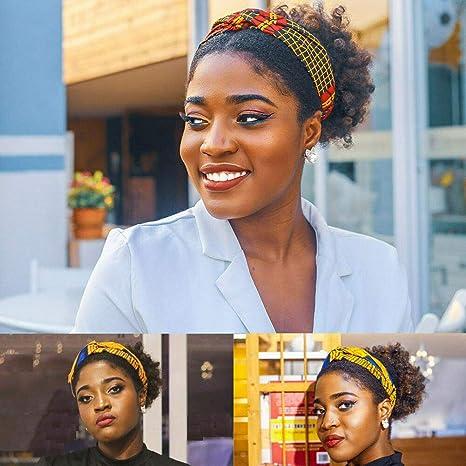 Meijunter Africaine Wax HeadwrapsTraditionnelle /Écharpe Cheveux Foulards Tie Extensible Turban pour les Femmes Noires
