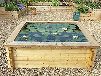 Raised Garden Ponds With Liner   6ft X 6ft (16in High)