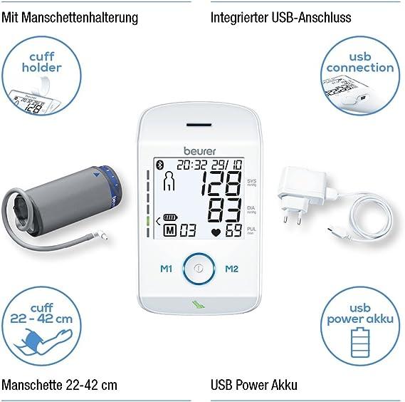 Beurer 658.03 BM 85 Digital Tensiómetro de brazo con extra grande ...