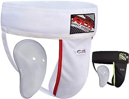 Taille LARGE coquille de protection Coque d/étachable Groin Guard White Large Coque avec /élastique White Groin Guard - Blanc