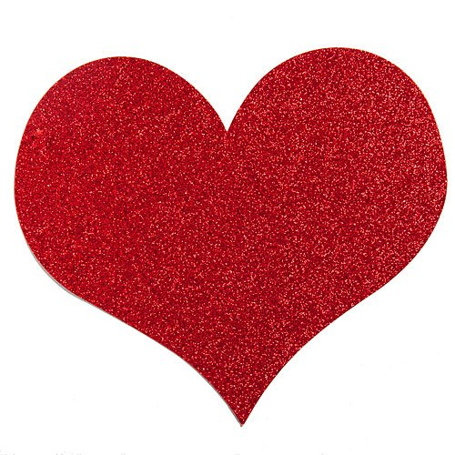 VICTORY SOLUTIONS LIMITED Glittered Red Heart