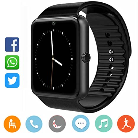 CatShin Smartwatch Android y iOS-Reloj Inteligente Reloj Deportivo Ranura de Tarjeta SIM,Podómetro