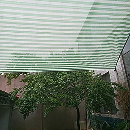 Sombra Solar Malla Cubierta De Patio/Toldo/Ventana, Malla De Malla De Jardín De HDPE 90% Bloqueador Solar, Tela De Protección Solar con Ojales para Pérgola O Mirador, Franjas Verdes/Blancas: Amazon.es: Hogar