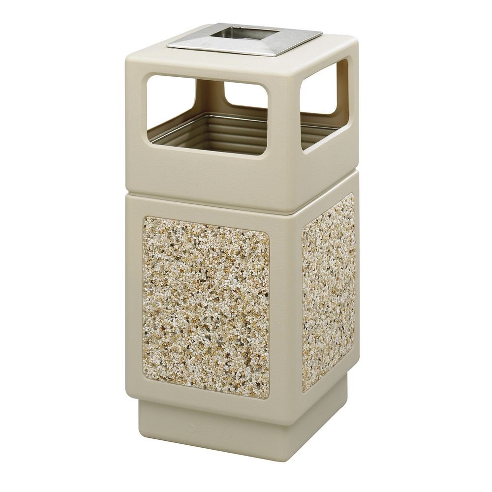 Safcoプラスチック/ Stone集約receptacles-aggregateレセプタクル、38 Gal、18 – 1 / 4