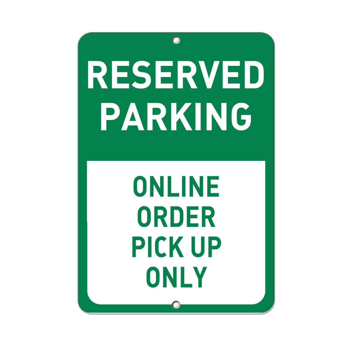 Amazon com reserved parking online order pick up only parking sign label decal sticker sticks to any surface 9x12 in office products