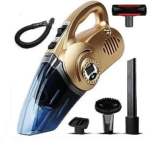 LEAJIA Car Vacuum Cleaner with Tire Inflator,Tire Pressure Gauge,Floodlight, 12V Multi-Function 4 in 1 Dry Wet 120W Handheld Vacuum, B