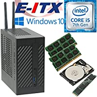 Asrock DeskMini 110 Intel Core i5-7400 (Kaby Lake) Mini-STX System , 32GB Dual Channel DDR4, 240GB NVMe M.2 SSD, 1TB HDD , WiFi, Bluetooth, Window 10 Pro Installed & Configured by E-ITX