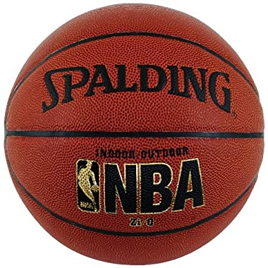 Spalding NBA Zi/O Indoor/Outdoor Basketball - Official Size 7 (29.5 )