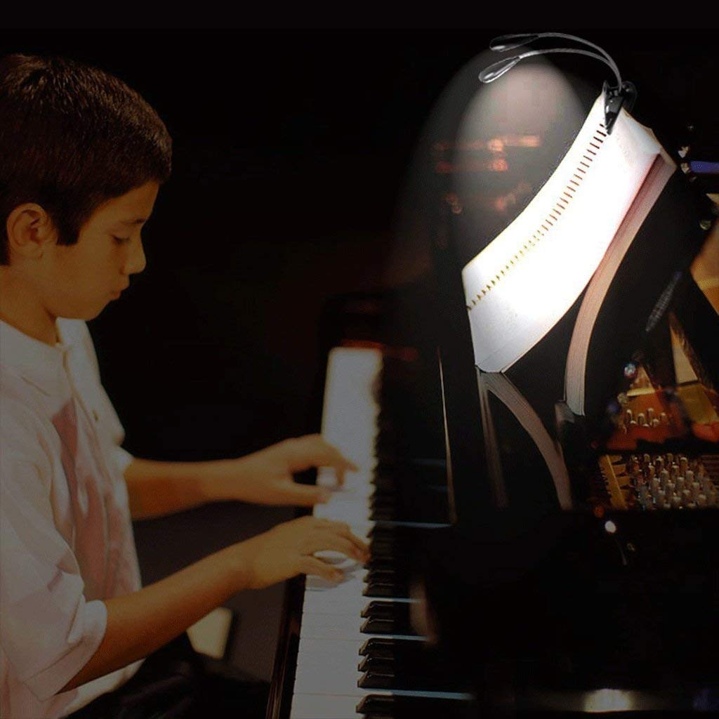 Piano Music Lichter 8 st/ücke LED notenst/änder USB Lade Angeln Nacht Computer tischleuchte ZJZ Clip schreibtischlampe schwarz