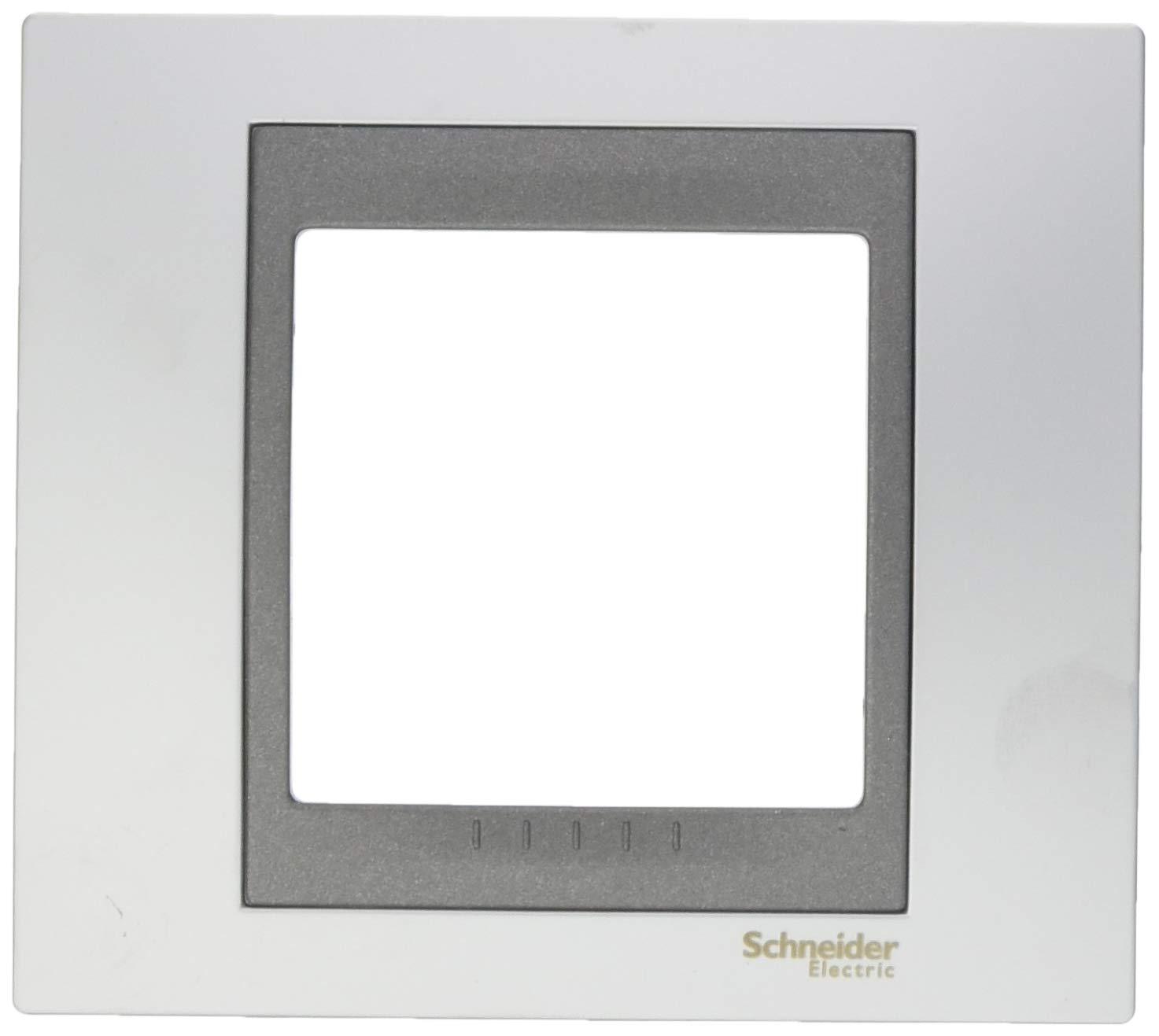 Schneider electric mgu66.002.238b Cadre Top 1élément, couleur chrome satiné couleur chrome satiné