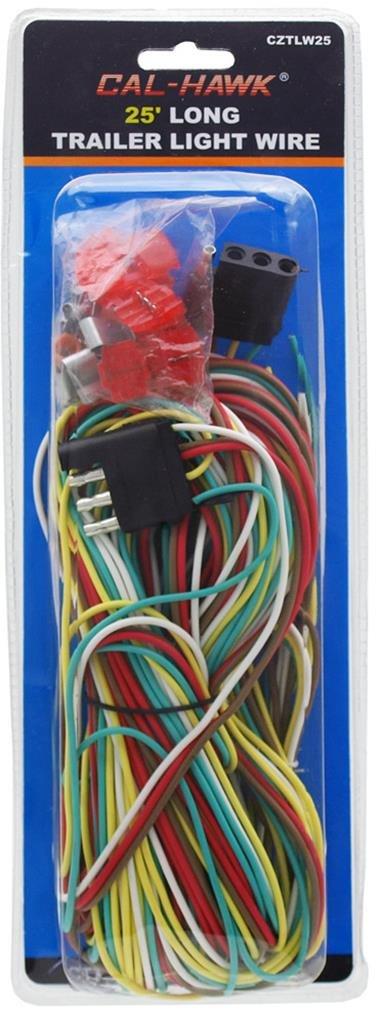 Cal Hawk Tools CZTLW25 25' Long Trailer Light Wire