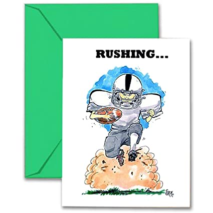 Amazon football birthday card 5x7 play strong sports football birthday card 5x7 play strong sports birthday greeting cards awesome for players m4hsunfo