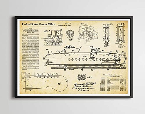 Vintage Submarine Voyage Available in 5 Sizes Tomorrowland Disneyland Poster