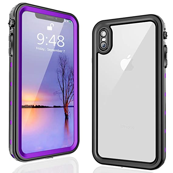 watch e3d50 48f88 FXXXLTF iPhone Xs Max Waterproof Case, iPhone Xs Max Case, Full Body  Protective with Built-in Screen Protector Clear Waterproof Case for iPhone  X Max ...