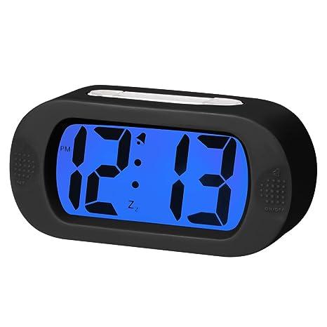 EASEHOME Reloj Despertador Digital de Silicona, Relojes Despertadores Digitales con Función Snooze y Luz Nocturna