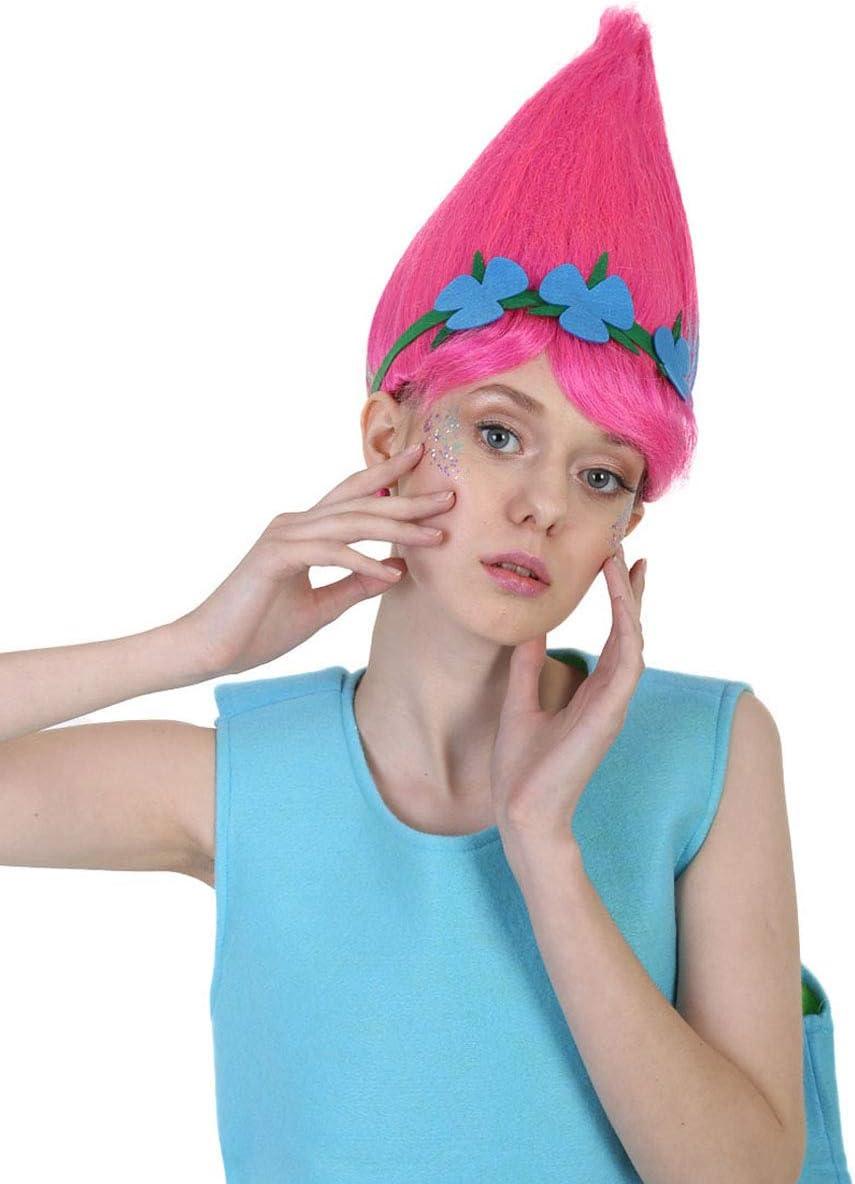 Poppy Troll Elf/Pixie Style Wig With Hairband HD1101: Amazon.es ...