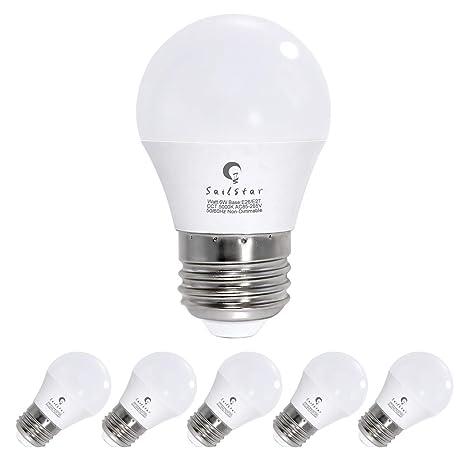 best loved da748 dec0b 60 Watt Equivalent Led Bulb with Standard E26 Screw Base, 600 Lumens  Frosted A15 Led Ceiling Fan Lamps, 6W Led Refrigerator Bulbs, Daylight  5000K, ...