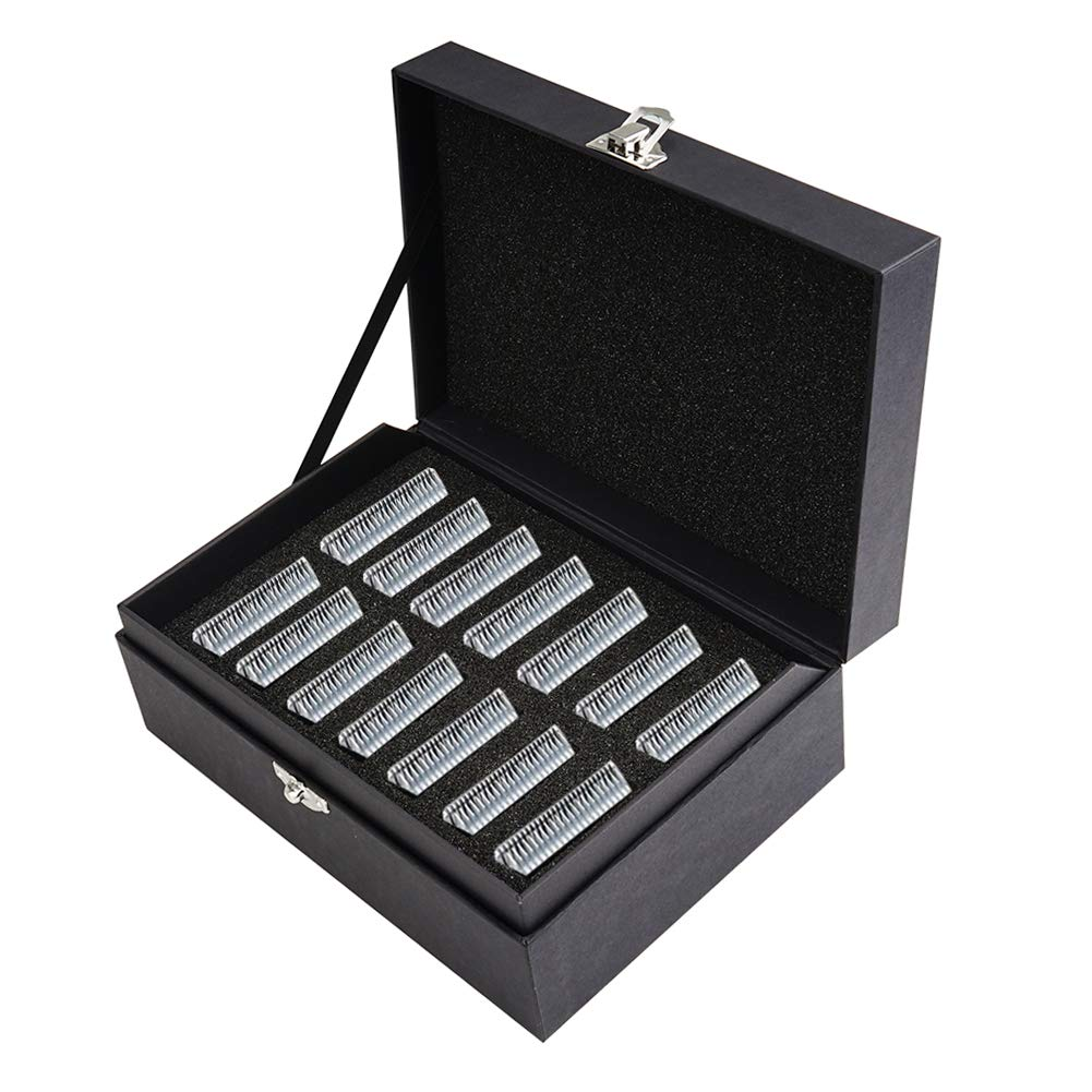 TPCY Grooming Clipper Blade Case Holder Organizer - Rigid carton Travel Carrying Storage Holds 14 Blades (Black)